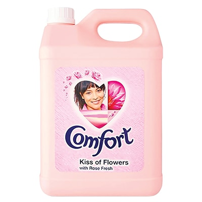 Comfort Regular Kiss of Flowers Fabric Softener 5L - Comfort fabric softener gently conditions each fibre, helps keep their natural elasticity, keeping your clothes looking newer for longer.