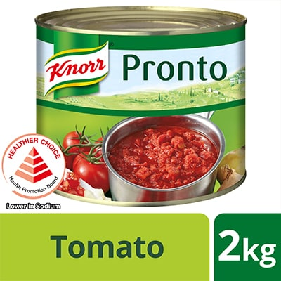 Knorr Pronto Tomato 2kg - Keeping my Western dishes authentic is a challenge because of my staff's varying skill levels.