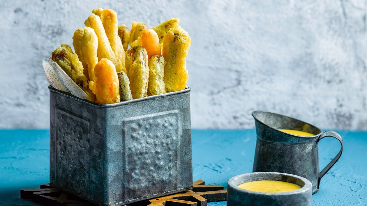 Festive Crispy Salted Egg Vegetable Fritters