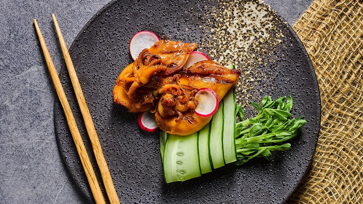 Paper wrapped South East Asian Spice Squid