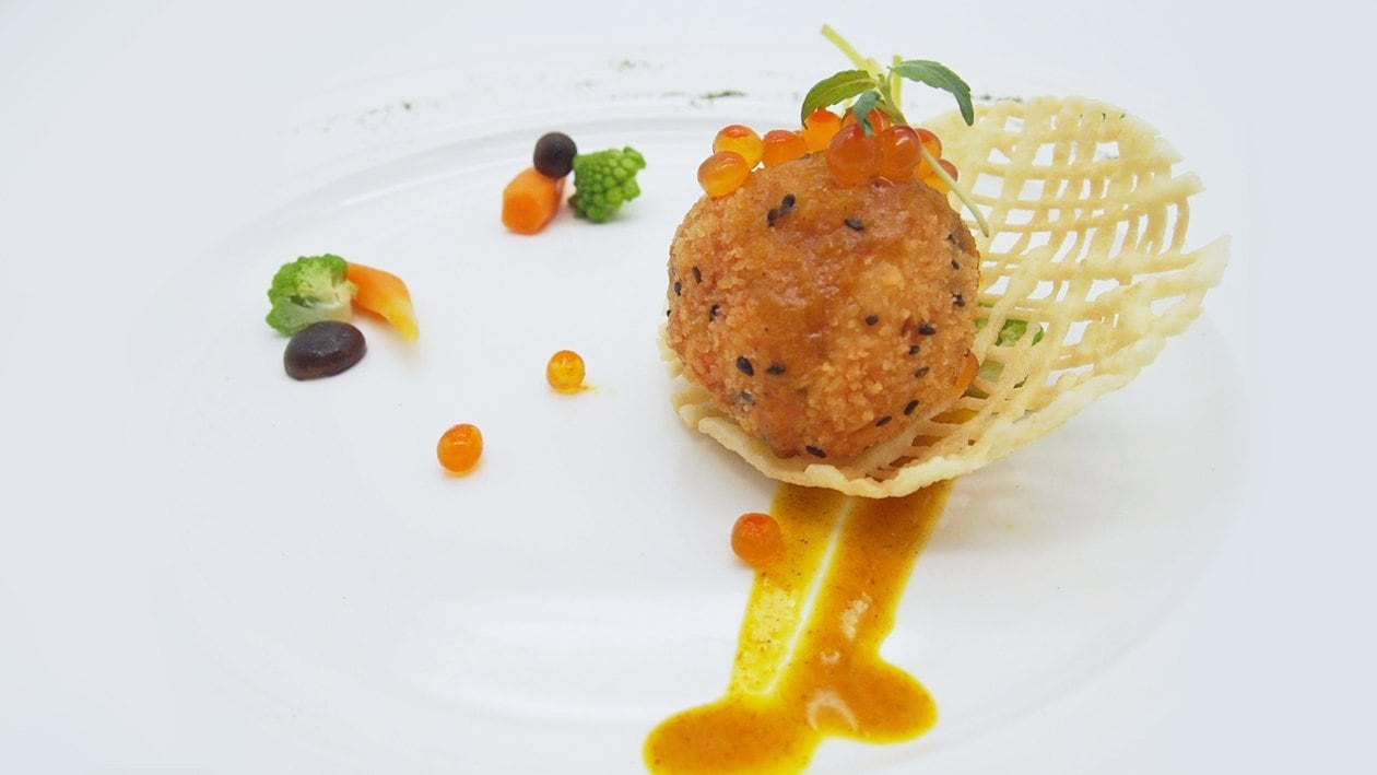 Deep Fried Crispy Scallop with Golden Superior Sauce