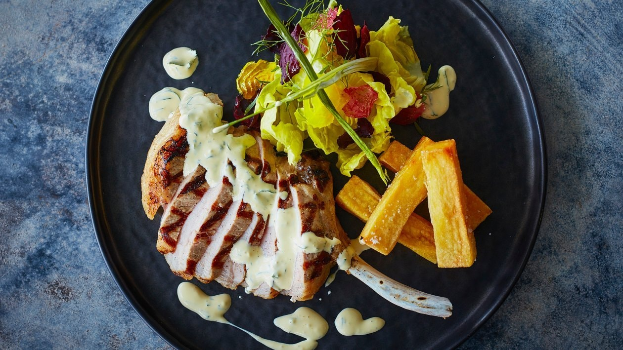 Grilled Pork Cutlet with Bearnaise Sauce