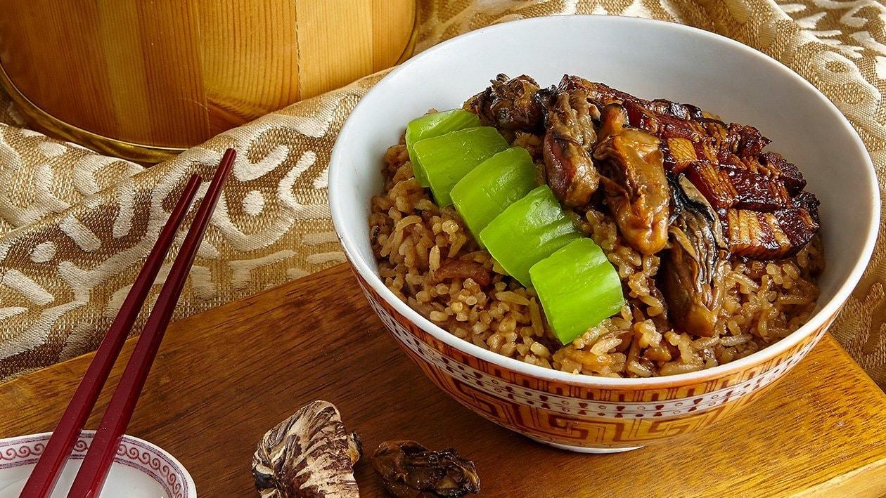 Leaf Mustard Steamed Rice