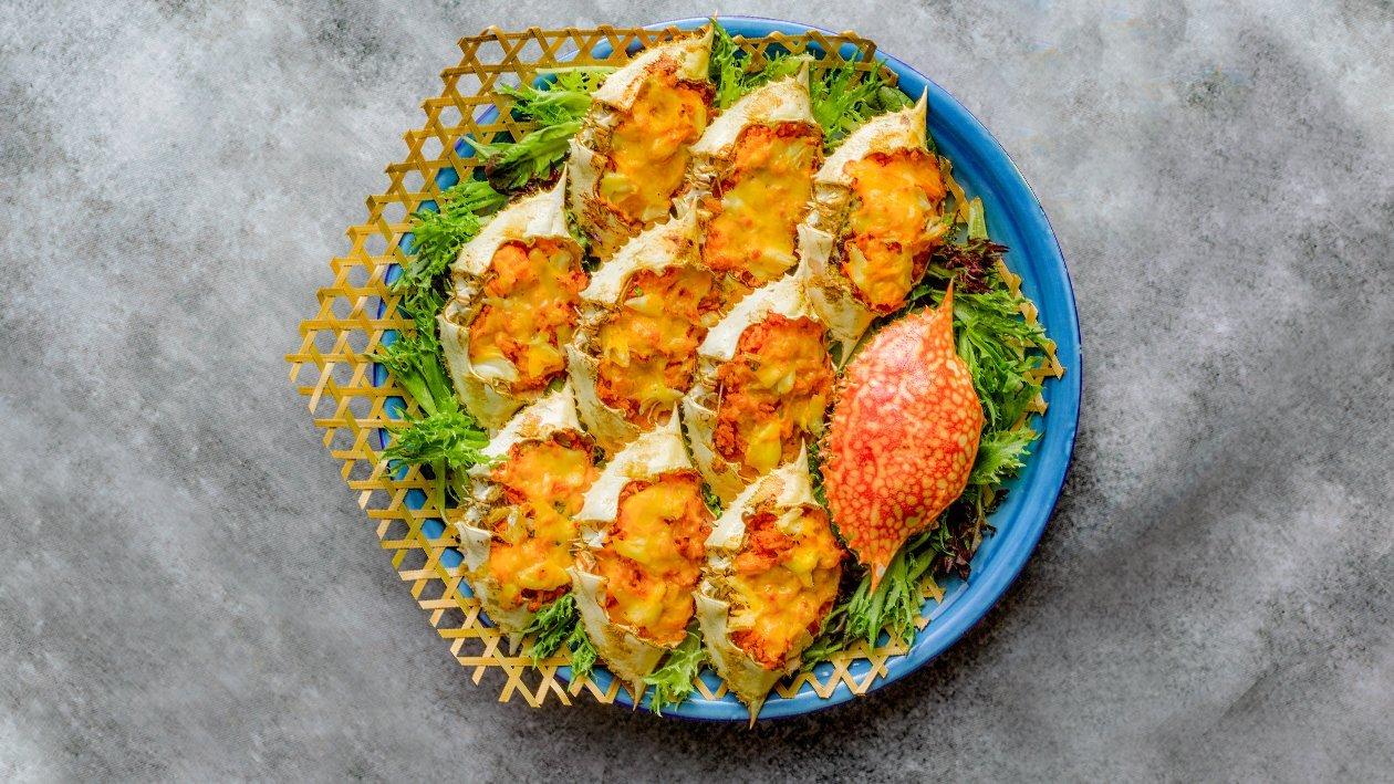 焗烤芝士蟹饭