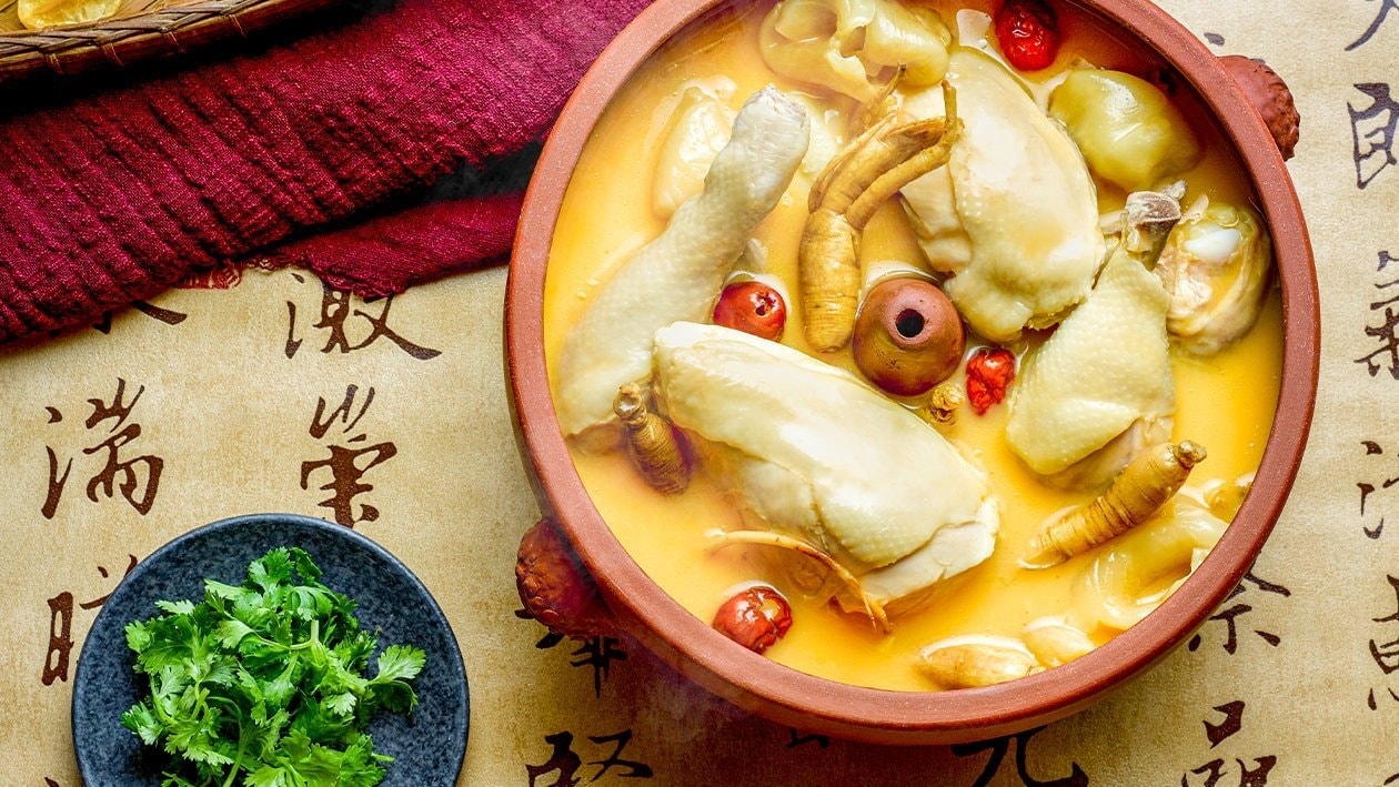 Ginseng Cheese Soup