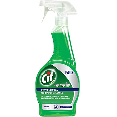 Cif Pro Spray All-Purpose 520ml - With Cif Pro All Purpose Cleaner, surfaces are clean with anti-bacterial action.