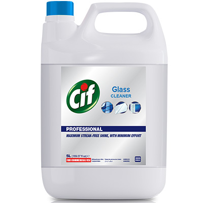 Cif Pro Spray Window Glass Refill 5L - With Cif Pro Spray Window Glass, water spots, grease, grime on surfaces disappear