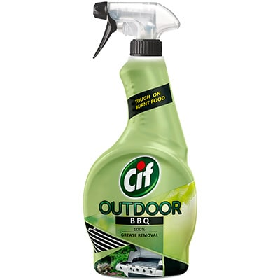 Cif Spray Outdoor BBQ 450ml - With Cif Spray Outdoor BBQ,  burnt-on grease on surface is restored